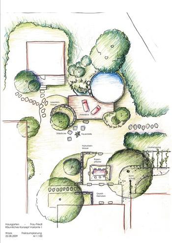 gartenplan mit pool, gartenplanung muenchen - moderne gaerten renate waas, Design ideen